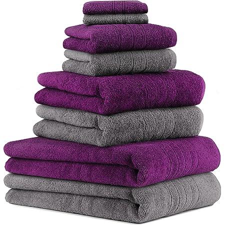 Betz 4er Handtuch Set DELUXE Seiftücher Handtücher Duschtücher Badetuch schwarz
