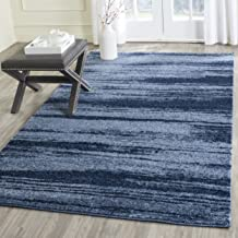 Safavieh Retro Collection RET2693-6065 Modern Abstract Light Blue and Blue Square Area Rug (6' Square)