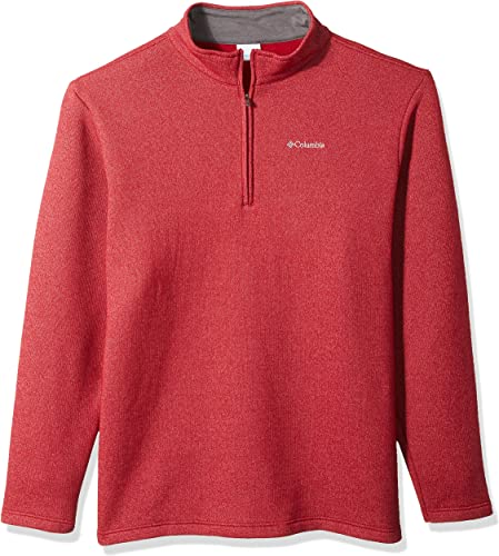 Columbia Hommes's Great Hart Mountain III Big Half Zip, Beet Heather, X-grand Tall