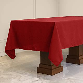 Kadut Rectangle Tablecloth (60 x 102 Inch) Red Rectangular Table Cloth for 6 Foot Table | Heavy Duty Fabric | Stain Proof Table Cloth for Parties, Weddings, Kitchen, Wrinkle-Resistant Table Cover