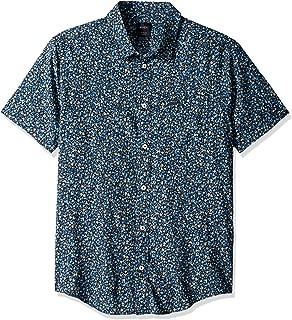 Men's Revivalist Floral Short Sleeve Woven Button Front Shirt