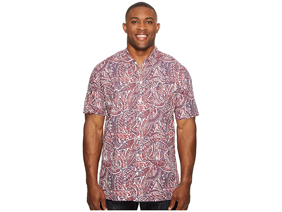 Columbia Big Tall Trollers Best Short Sleeve Shirt (Sunset Red Tuna) Men