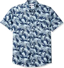 Amazon Essentials Men's Regular-fit Short-Sleeve Print Shirt