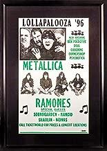 Lollapalooza '96 Concert Poster (Feat. Metallica, Ramones, Soundgarden, More) Framed