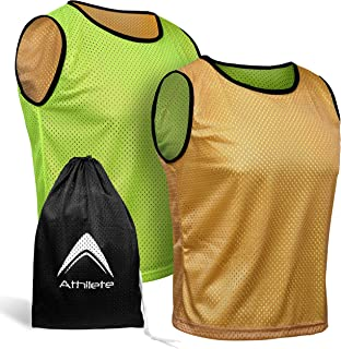 Sponsored Ad - Athllete Reversible Pinnies (Pack of 6+Free Carry Bag) Basketball Soccer Training Vest Team Scrimmage Pract...