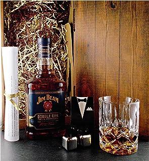 Geschenk Jim Beam Double Oak Bourbon Whiskey  Glas  2 Whisky Kühlsteine