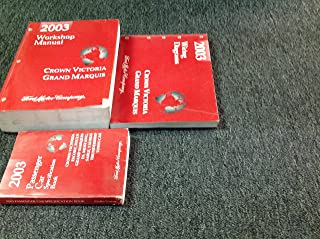 2003 FORD CROWN VICTORIA MERCURY GRAND MARQUIS Service Shop Repair Manual Set