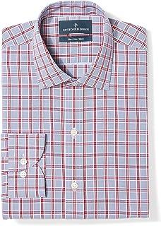 Amazon Brand - Buttoned Down Men's Slim Fit Spread Collar Pattern Dress Shirt