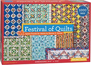 """Festival of Quilts Jigsaw Puzzle: 1000 Pieces, Dimensions 28"""" X 20"""""""