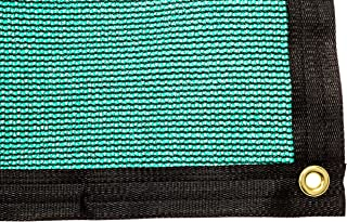 Be Cool Solutions 70% Green Outdoor Sun Shade Canopy: UV Protection Shade Cloth| Lightweight, Easy Setup Mesh Canopy Cover with Grommets| Sturdy, Durable Shade Fabric for Garden, Patio & Porch 6'x12'