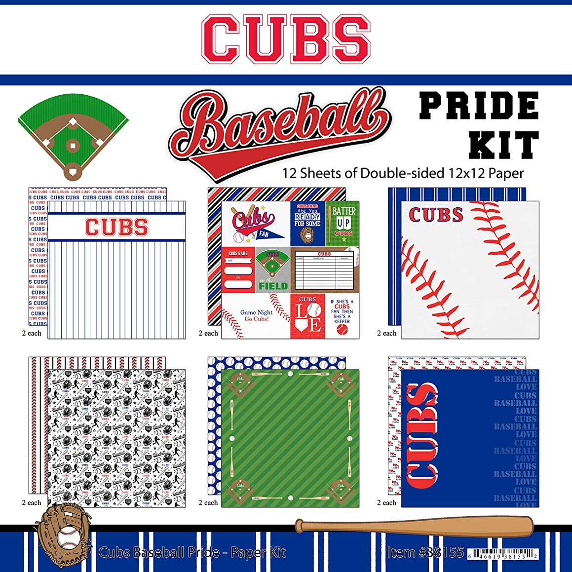Scrapbook Customs Cubs Pride Baseball Scrapbook Kit