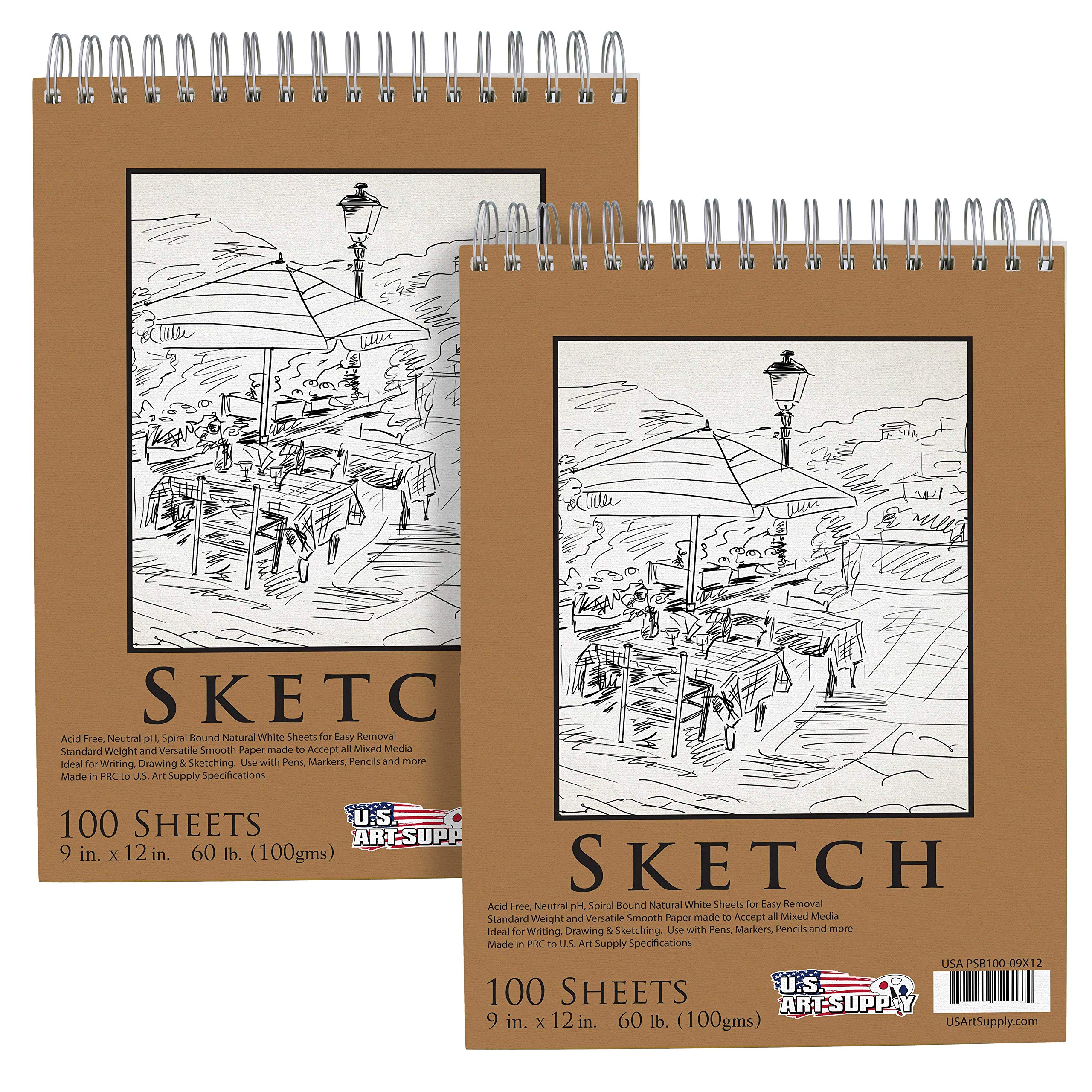 Supply Premium Spiral Sketch 100 Sheets