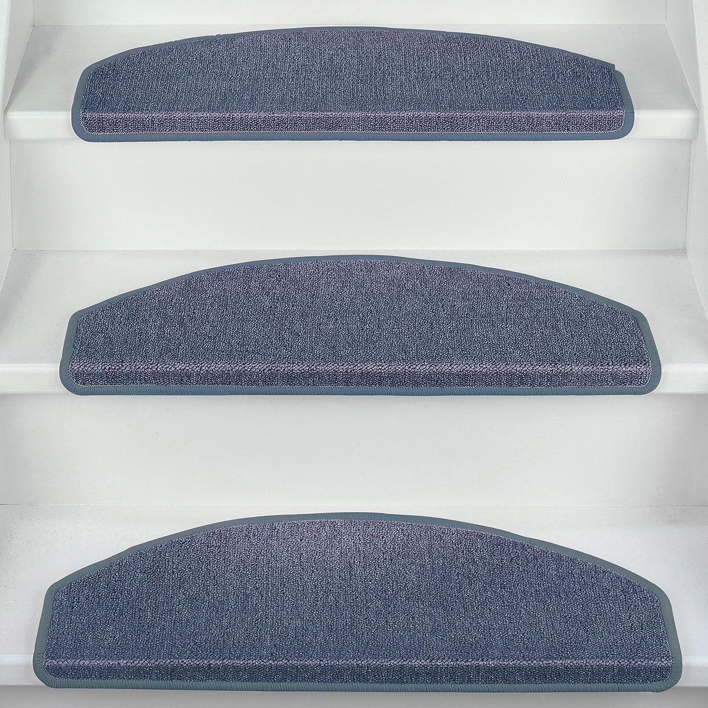 Antideslizantes y Adhesivas Alfombras semicirculares para Escalera 65 x 28 cm Beautissu Set de 15 Unidades Antiguo Arena Ribeteado