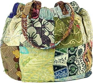 GURU SHOP Hippie Tasche, Patchwork Shopper, Schultertasche, Herren/Damen, Mehrfarbig, Baumwolle, Size:One Size, 40x40x13 c...