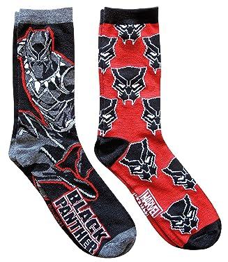 Hyp Marvel Black Panther Leap Men's Crew Socks 2 Pair Pack