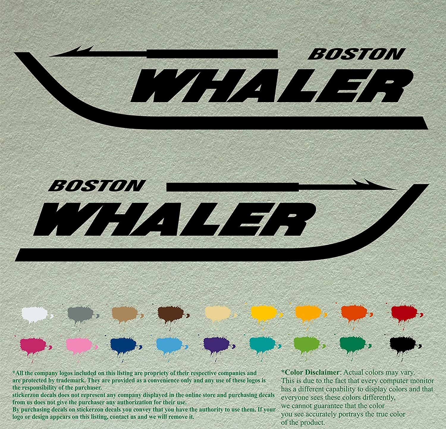 Pair of Boston Whaler We OFFer at cheap prices Boats SALENEW very popular! Decals Stickers Boat Vinyl Outboards