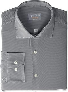 Men's Slim Fit Spread Collar Performance Dress Shirt