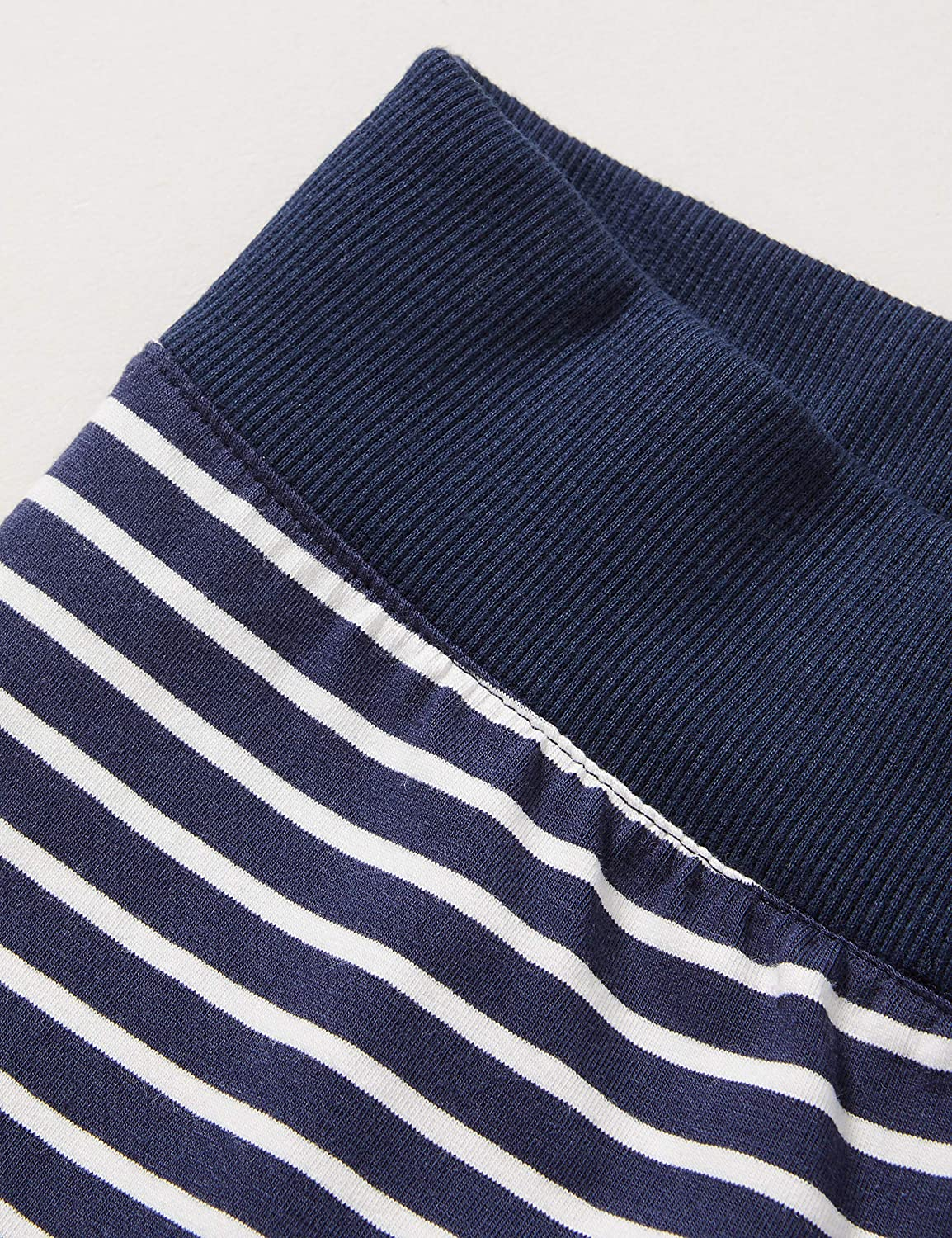 Sanetta Girls Midnight Sporty Leggings timelessly Beautiful Dark Blue Striped Look Athleisure Collection