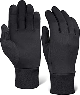 Running Gloves for Men & Women - Thermal Winter Glove Liners for Cycling, Driving - Thin, Lightweight & Warm for Cold Weather