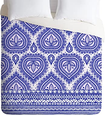 Deny Designs Aimee St Hill Decorative Blue Duvet Cover, Queen