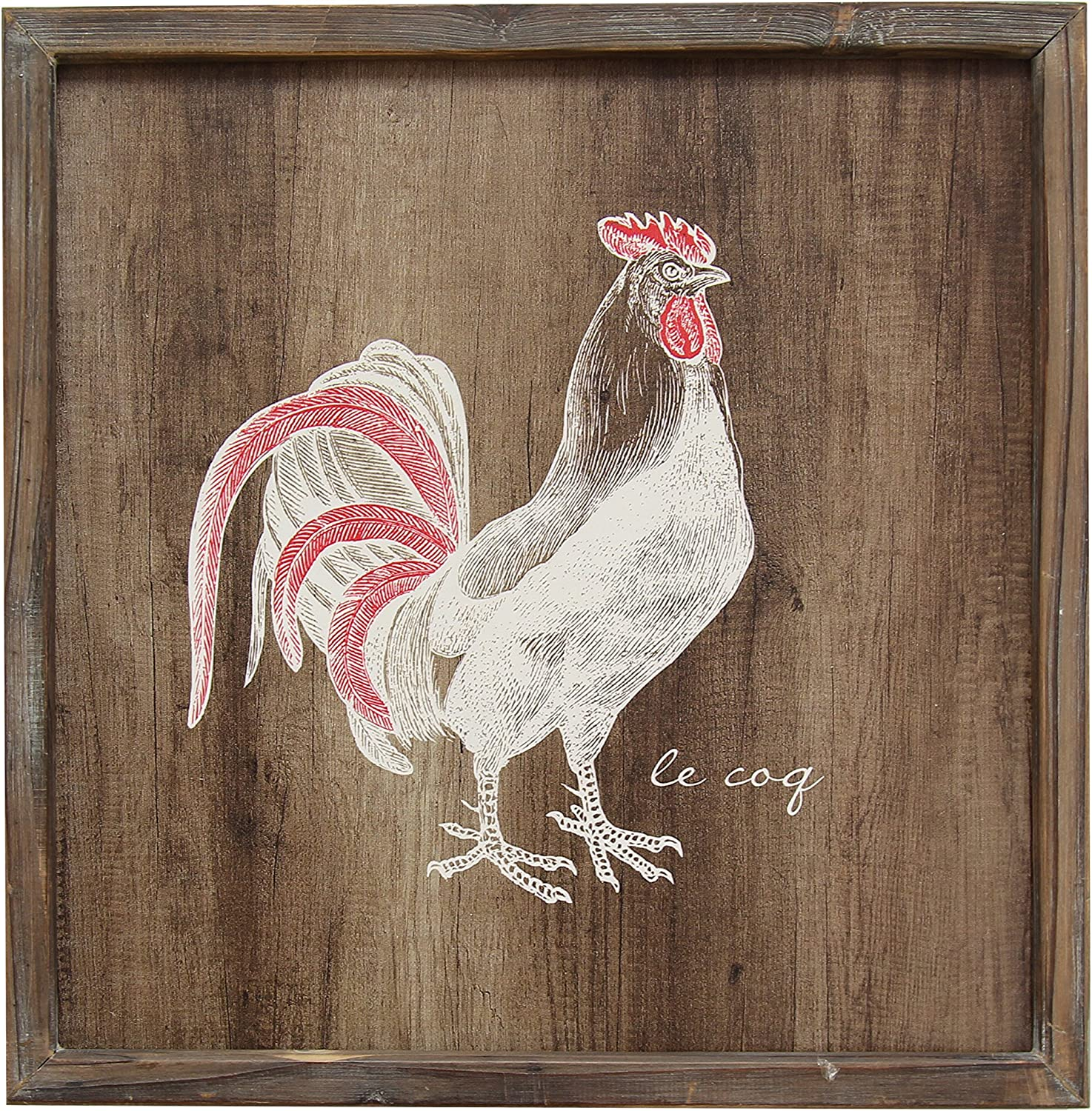 Stratton Home Décor S01988 Rooster Wall Art