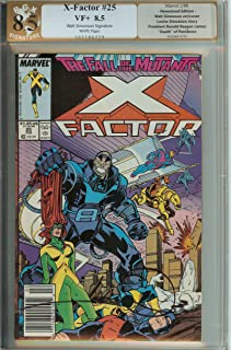 X-Factor #25 X-Men Signed Walt Simonson PGX 8.5 like CGC + 1 FREE BONUS SIGNED X-FACTOR BOOK