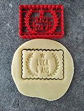 Emporte-pièce étoile et lauriers - Petit beurre - Personnalisable avec prénom et date ou âge | Conçu et fabriqué en France