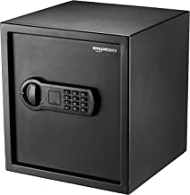 AmazonBasics Home Keypad Safe - 1.2 Cubic Feet, 13 x 13 x 14.2 Inches, Black - 36SAM