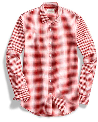 06eac32f3fc Red Gingham Men's Shirt: Amazon.com