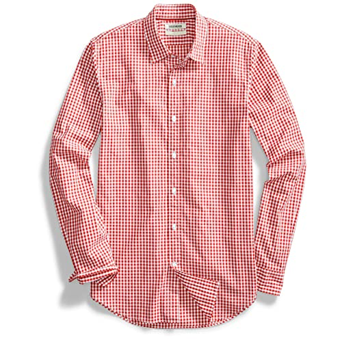 gingham shirt red
