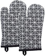 DII القطن المقاوم للحرارة حامل وعاء المطبخ وقفاز الفرن مجموعة مزرعة أنيقة تصميم هندسي ، آلة قابل للغسل لكل منزل Oven Mitt ...