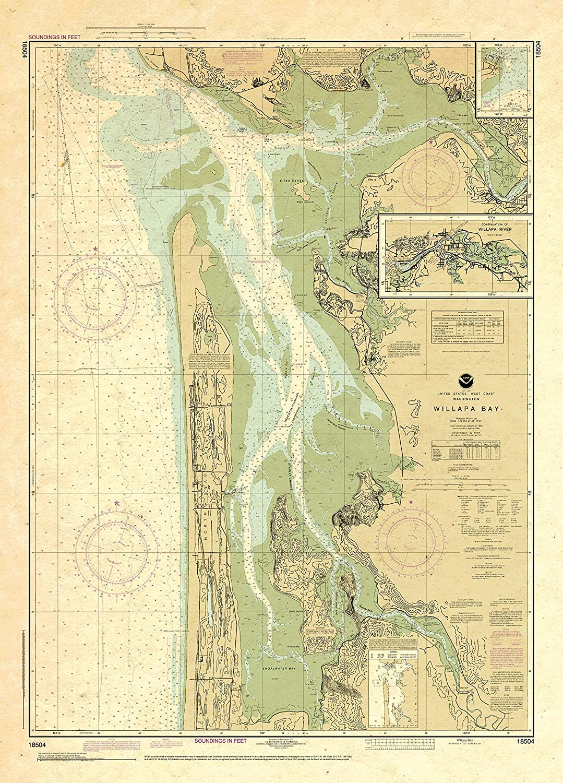 Paradise store Cay Publications NOAA Chart Toke 18504: Bay; Pt Willapa Jacksonville Mall