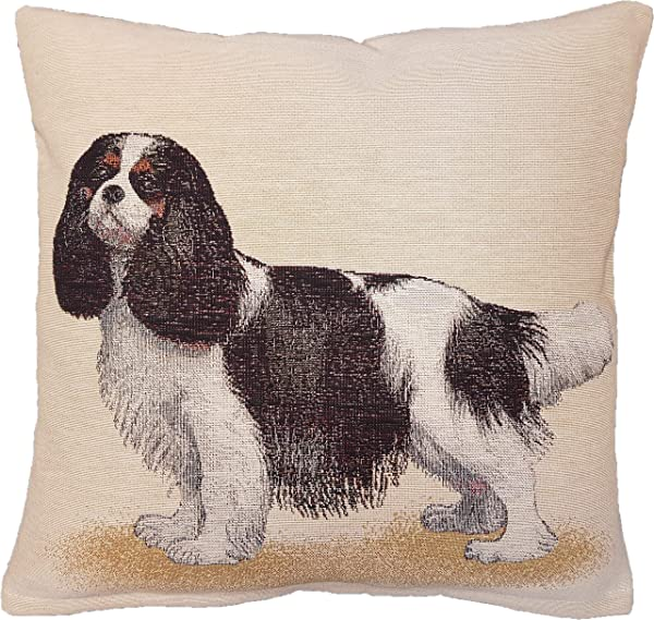 Amber Textile Dog Tapestry Throw Pillow Covers Cases Decorative Cushion Covers Pillowcase Cushion Case For Sofa Couch 18 X18 Inches Cavalier
