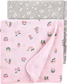 Carter's Baby 2-Pack Swaddle Blankets, Safari, One Size