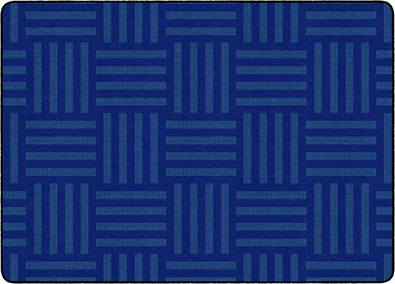 Flagship Carpets FE384 32A Hashtag Tone On Tone Blue Seats Up To 24 Children S Classroom Rug Rectangle 6 X8 4