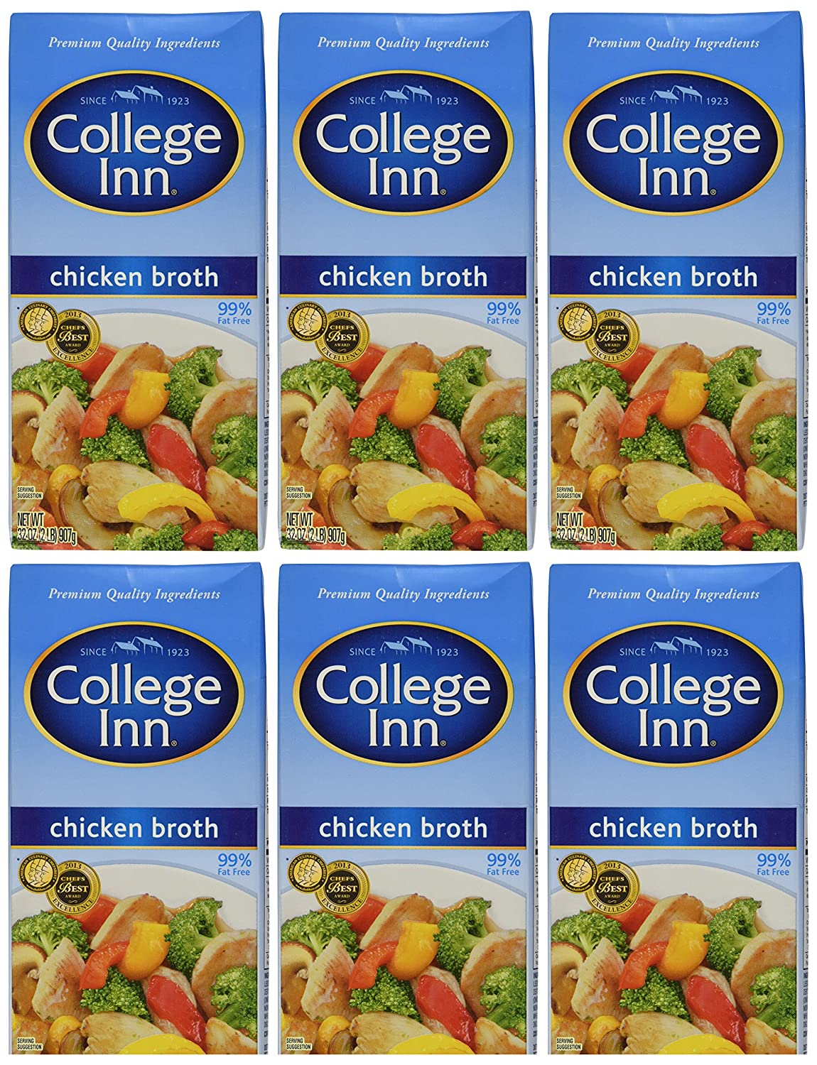 Amazon Com College Inn Chicken Broth Easy Open Resealable 32 Ounce Pack Of 6 Chicken Soups Grocery Gourmet Food
