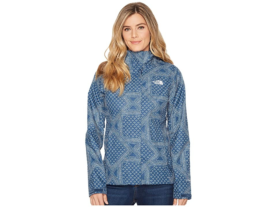 The North Face Print Venture Jacket (Blue Wing Teal Bandana Tile Print) Women