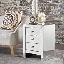 Christopher Knight Home Lucille Mirror Finished 3 Drawer Accent Table, Clear