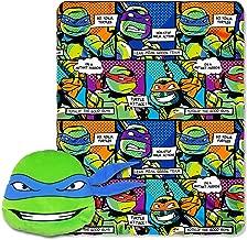 Nickelodeon Teenage Mutant Ninja Turtles, Good Guys Leo Fleece Throw Blanket in Pocket Set, 40