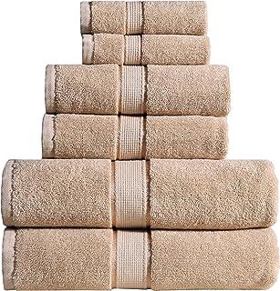 Wicker Park 600 GSM Ultra Soft 100% Cotton Towel Set (White), Long-Staple Cotton, Spa Hotel Quality, Super Absorbent, Mach...
