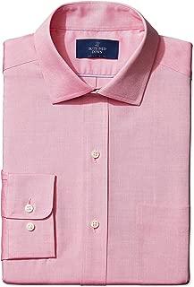 Men's Standard Classic Fit Spread Collar Solid Non-Iron...