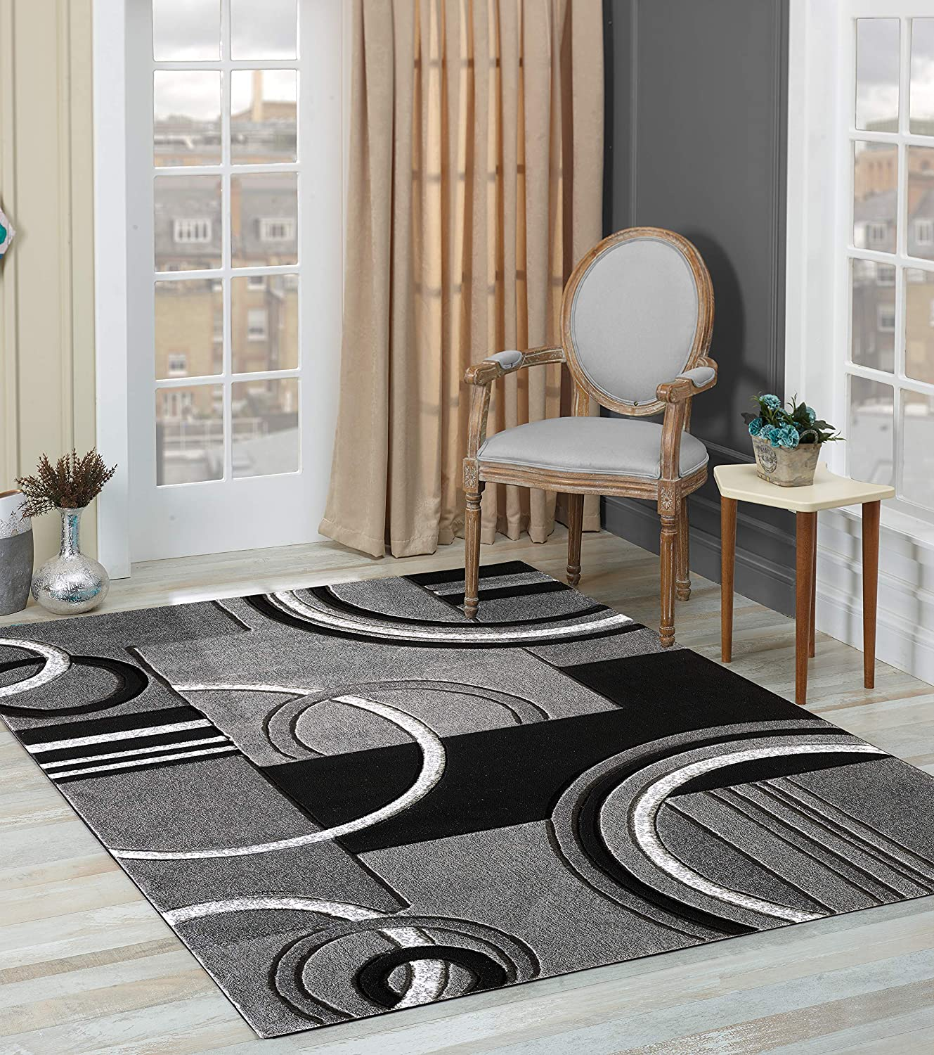GLORY RUGS Area Nippon regular agency Rug Modern 8x10 Contempora Hand Grey Soft Carved Cheap