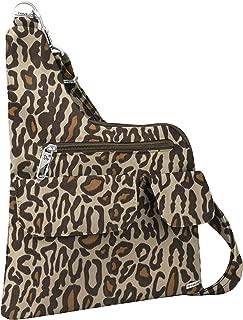 Travelon Anti-Theft Cross-Body Bag, Leopard, Two Pocket