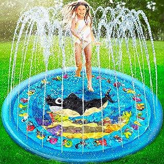 Inflatable Splash Pad for Kids Baby Kiddie Sprinkler Splash Play Mat Large Toddlers 1 Years Old Wading Pool Outdoor Water ...