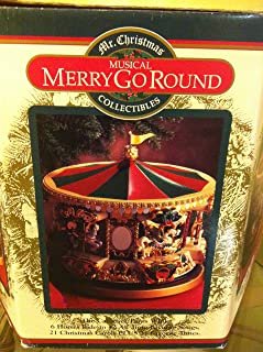 Mr. Christmas Musical Merry Go Round 6 Horses Ride Plays 42 Songs