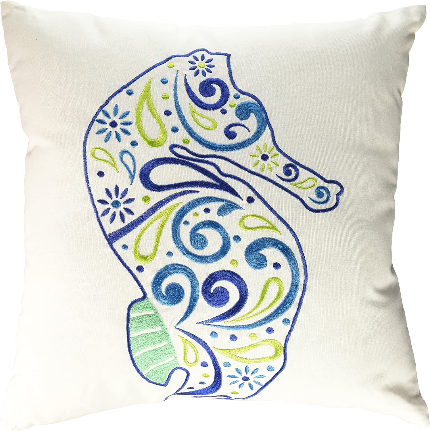 C&F Home 842981720A Meridian Seahorse Pillow, bluee