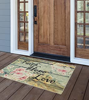 Brumlow Mills Faith Hope Love Vintage Spring Kitchen And Entryway Rug, 2'6