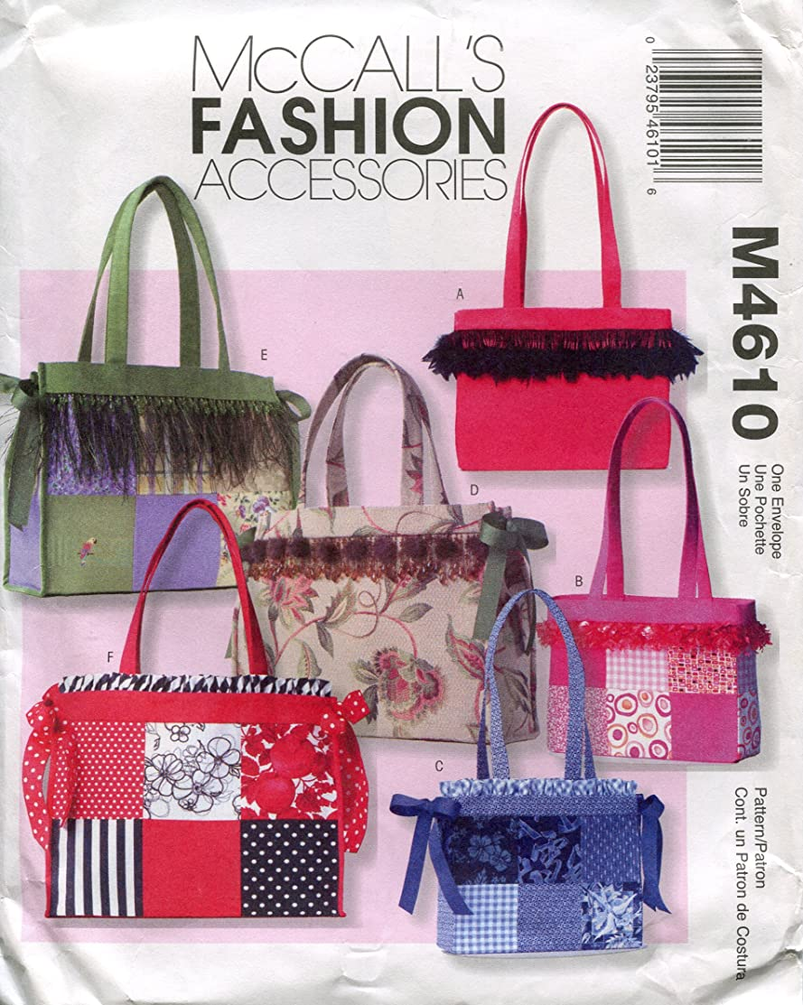 McCall's Fashion Accessories Pattern M4610 Misses' Totes