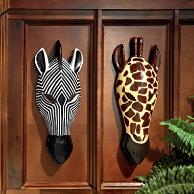 Design Toscano Tribal-Style Zebra Mask