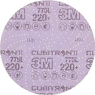 3M Cubitron II Hookit 64270 Clean Sanding Film Disc 775L, 5 in 220+ Film 3 MIL, Film Backing, Aluminum Oxide, 220+ Grit, 5